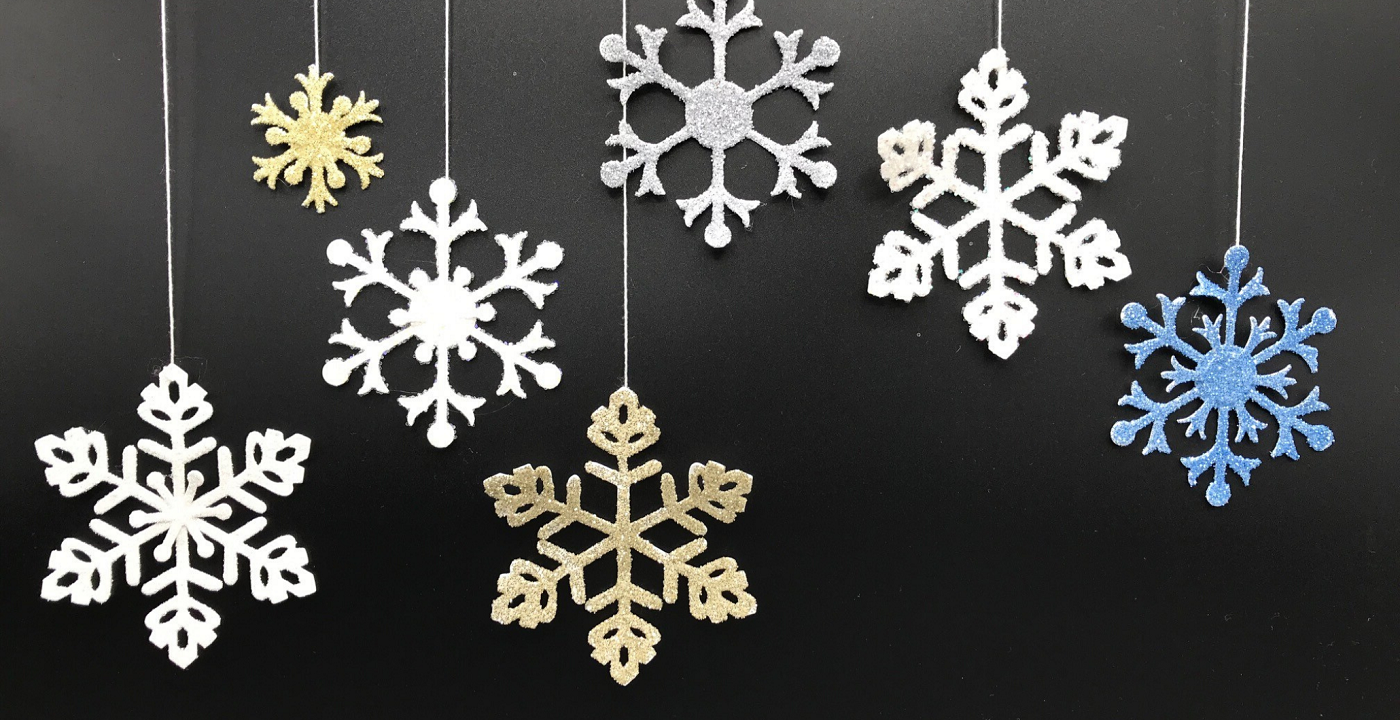 Make and Take: Glittered Snowflakes