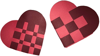 Take & Make Kit: Danish Woven Hearts