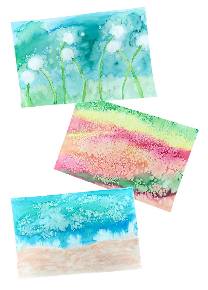 Take & Make Kit: Watercolor Process Art