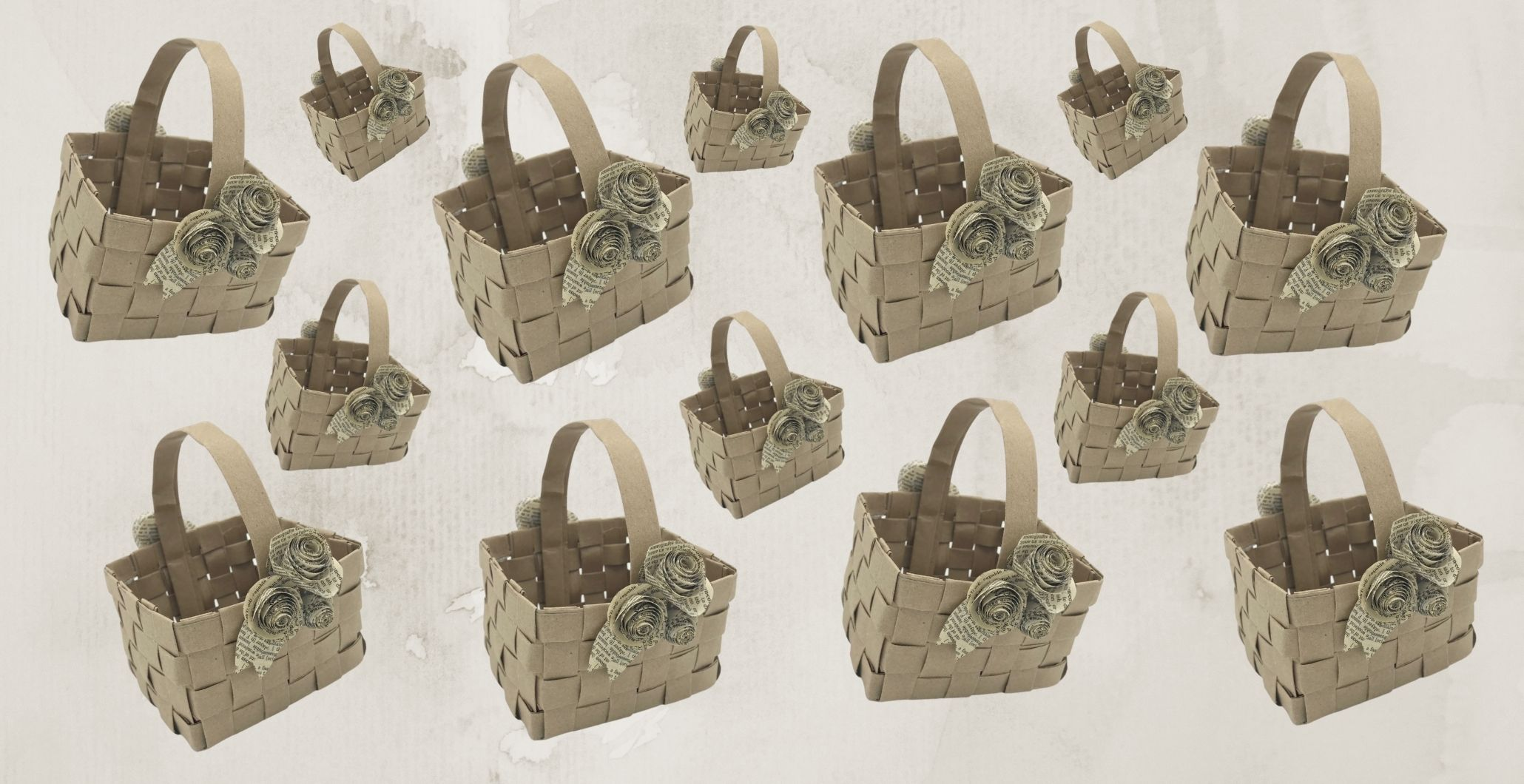 Take & Make: Woven Paper Bag Basket