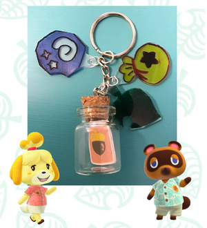 Grab & Go Activity Kit: Animal Crossing Keychains (For Grades 4 and up)